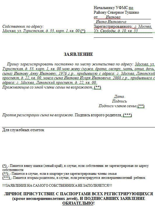 Прописка в приватизированной квартире (регистрация) 2020 - жены к мужу, без права собственности, временная, правила, родственников, детей, права